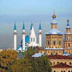 Пазл онлайн: Вид Казани с высоты