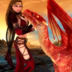 Пазл онлайн: Красный всадник