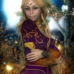 Пазл онлайн: Принцесса в лесу