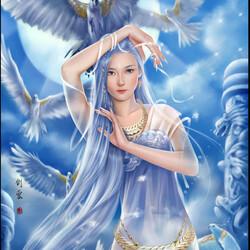 Пазл онлайн: Синяя птица
