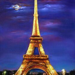 Пазл онлайн: Ночной Париж