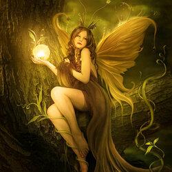 Пазл онлайн: Ночная фея