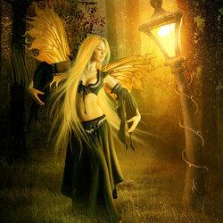 Пазл онлайн: Танец у лесного фонаря