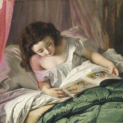 Пазл онлайн: Чтение