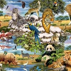 Пазл онлайн: Животный мир