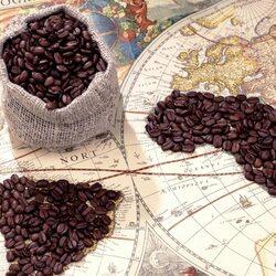 Пазл онлайн: Континенты кофе