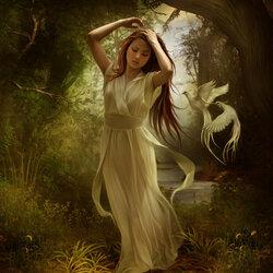 Пазл онлайн: Лесная красавица