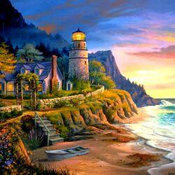 Пазл онлайн: Приветливый маяк