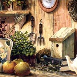 Пазл онлайн: Садовый натюрморт