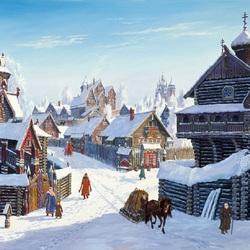 Пазл онлайн: Погожий зимний день