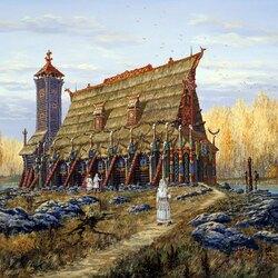 Пазл онлайн: Волхвы. Храм Бога Хорса