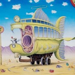 Пазл онлайн: Пустыный трамвай