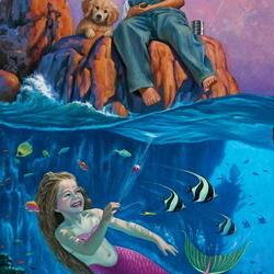 Пазл онлайн: Шаловливая русалочка