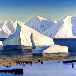 Пазл онлайн: Начало ноября. Северная Гренландия