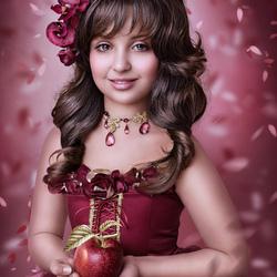 Пазл онлайн: Красное яблочко