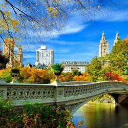Пазл онлайн: Осень в центральном парке Нью Йорка