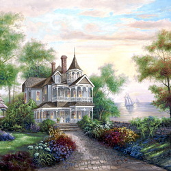 Пазл онлайн: Ажурный дом