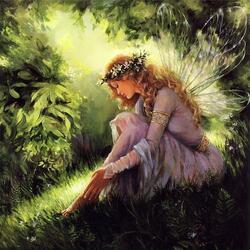 Пазл онлайн: Солнечная фея