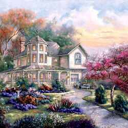 Пазл онлайн: Красивый домик