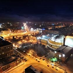 Пазл онлайн: Ночной Новосибирск