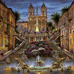 Пазл онлайн: Испанская лестница в Риме