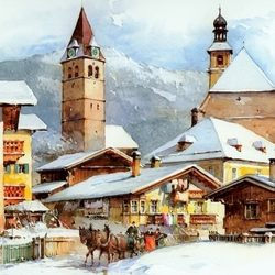 Пазл онлайн: Кицбюэль, Австрия