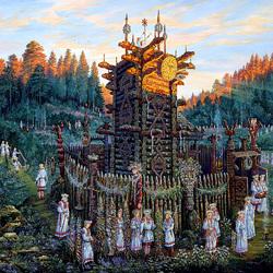 Пазл онлайн: Ведическая Русь.Святилище Числобога