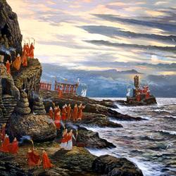 Пазл онлайн: Ведическая Русь.День морской Богини