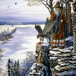 Пазл онлайн: Ведическая Русь.Жрец Соколиного Бога