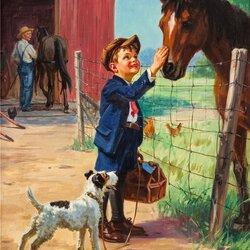 Пазл онлайн: Хорошая лошадка
