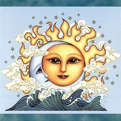 Пазл онлайн: Танец Солнца и Луны