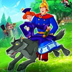 Пазл онлайн: Иван-царевич и Серый волк