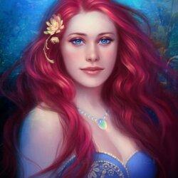 Пазл онлайн: Девушка с розовыми волосами