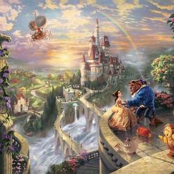 Пазл онлайн: Красавица и Чудовище