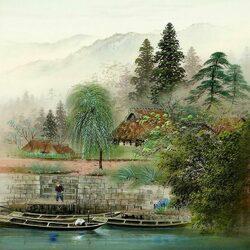 Пазл онлайн: У реки