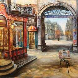 Пазл онлайн: Парижский дворик