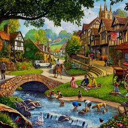 Пазл онлайн: Деревня летом