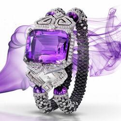 Пазл онлайн: Часы-браслет с аметистом