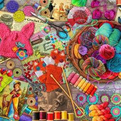 Пазл онлайн: Все для вязания
