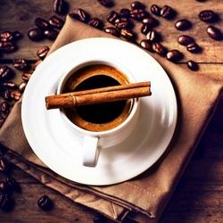 Пазл онлайн: Кофе с корицей
