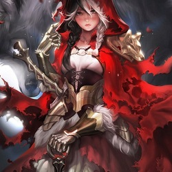 Пазл онлайн: Сказочные рыцари: Красная Шапочка
