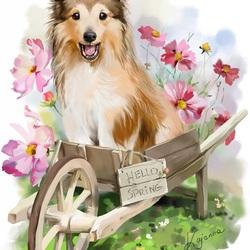 Пазл онлайн: Привет, Весна!