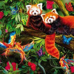 Пазл онлайн: Красные панды