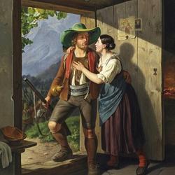 Пазл онлайн: Тревожное свидание