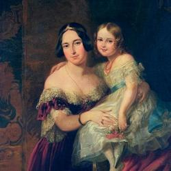 Пазл онлайн: Портрет принцессы Феодоры с дочерью