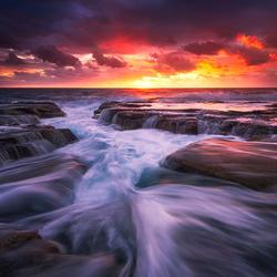 Пазл онлайн: Морской закат