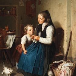 Пазл онлайн: Учимся у бабушки