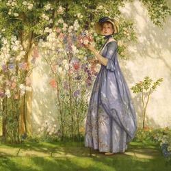 Пазл онлайн: Прогулка по саду
