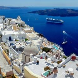 Пазл онлайн: На острове Санторини