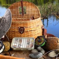 Пазл онлайн: Снасти рыбака